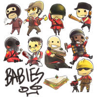 leetle babies by 021