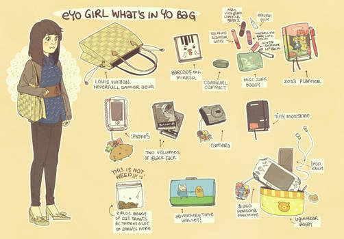eyo girl what's in yo bag