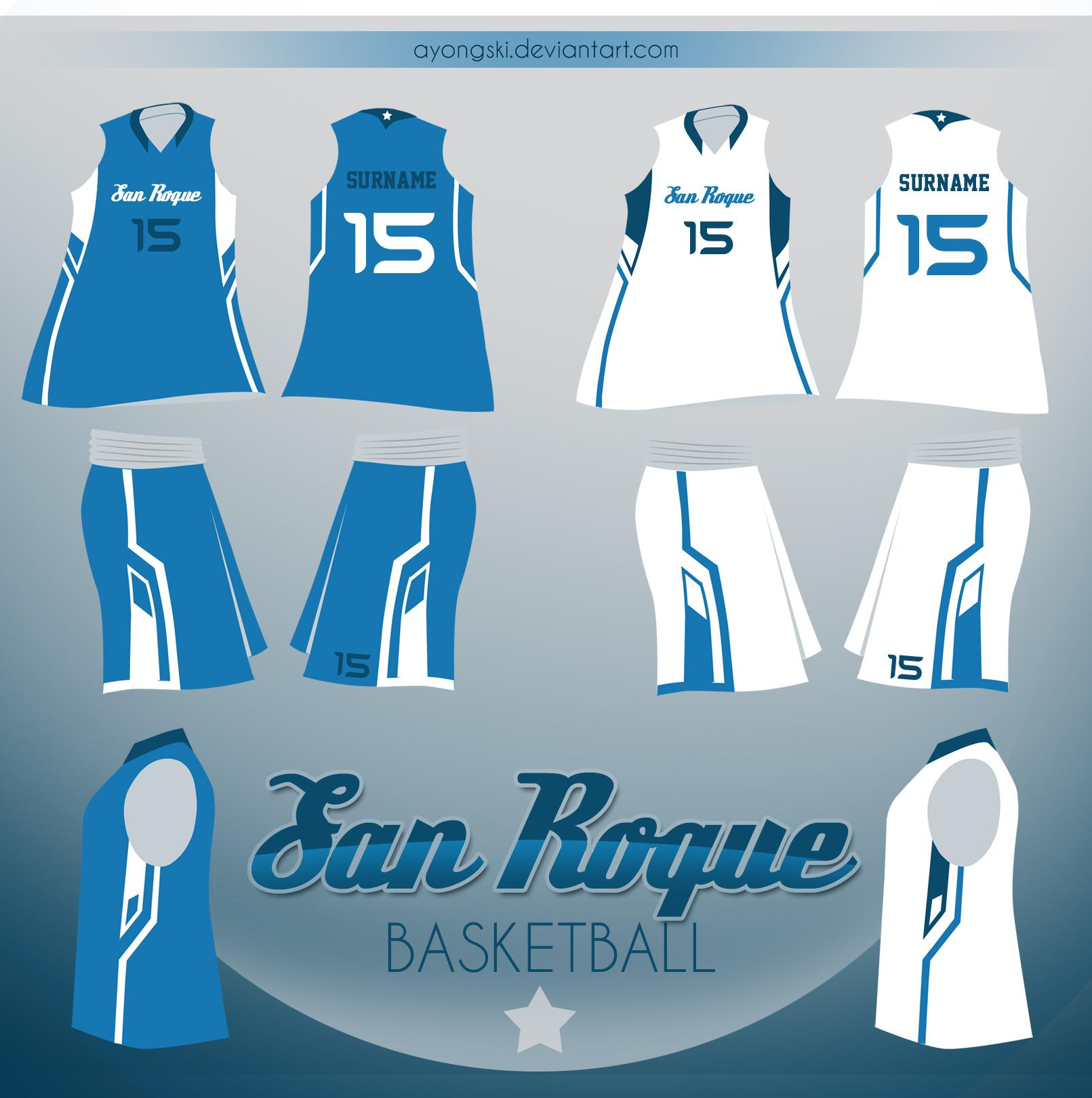 Basketball uniform design light blue
