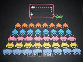 Invader school cross stitch by LordLibidan