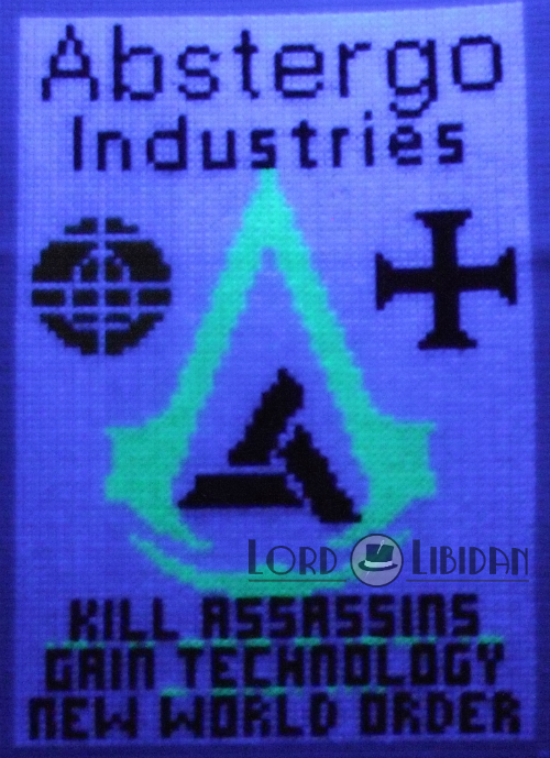 Abstergo Glow-In-Dark XStitch2 by LordLibidan