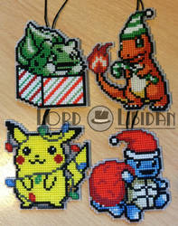 Christmas Pokemon Cross Stitches by LordLibidan
