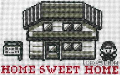 Pokemon Home Sweet Home Cross Stitch by LordLibidan