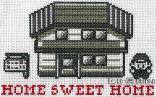 Pokemon Home Sweet Home Cross Stitch by LordLibidan