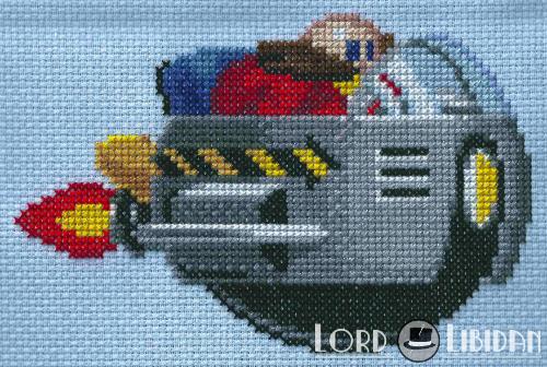 Dr Robotnik Cross Stitch by LordLibidan