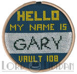 Hello My Name Is Gary Fallout 3 Cross Stitch
