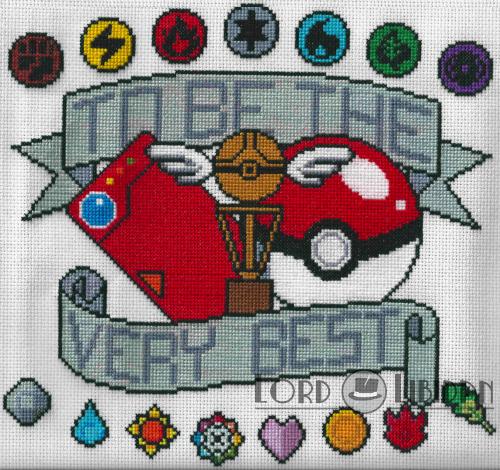 Pokemon Tattoo Cross Stitch by LordLibidan