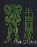 Metroid Power Suit And Cannon Blueprints X Stitch
