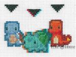 3D Pokemon Selection Cross Stitch