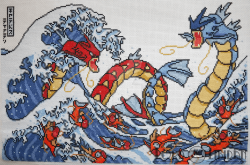 Pokemon Great Wave Cross Stitch by LordLibidan on DeviantArt
