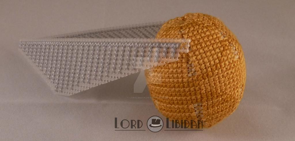 Harry Potter Golden Snitch Cross Stitch by LordLibidan