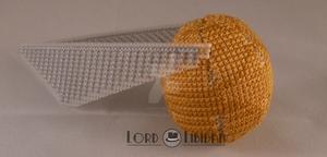 Harry Potter Golden Snitch Cross Stitch