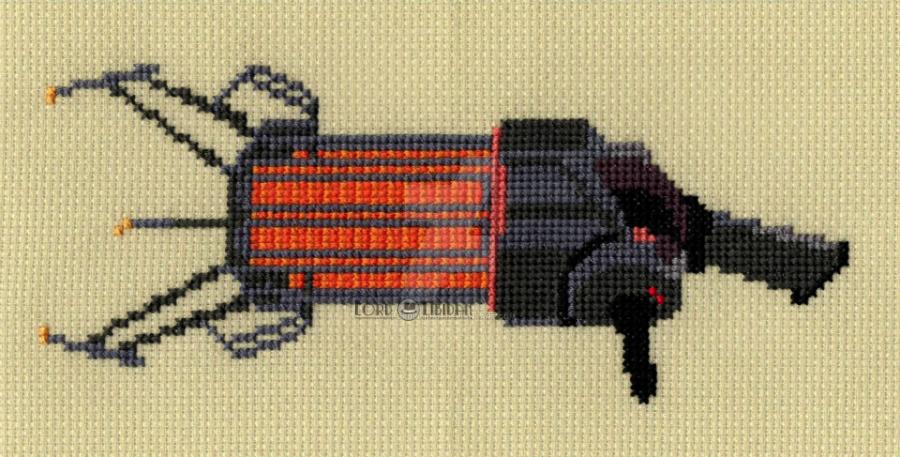 Half Life Gravity Gun Cross Stitch by Lord Libidan by LordLibidan