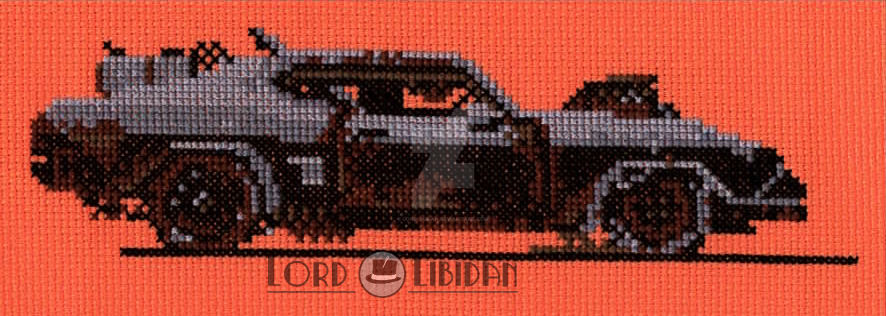 Mad Max Car Cross Stitch by Lord Libidan by LordLibidan