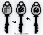 Bioshock Infinite Bird Cage Key Cross Stitch