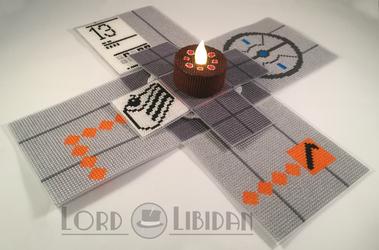 Portal Reveal Cross Stitch Box by Lord Libidan by LordLibidan