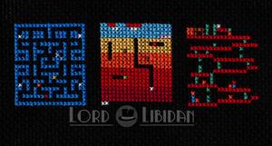 Retro Video Game Screens Cross Stitch