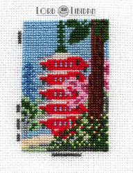 Spring In Daigoji Temple Miniature Cross Stitch