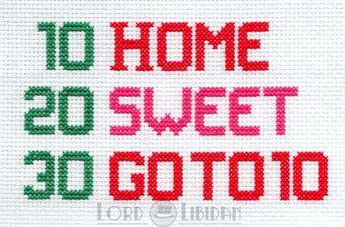 Futurama Home Sweet Home Cross Stitch