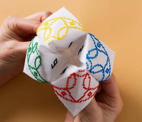 Origami Paper Fortune Cross Stitch by Lord Libidan