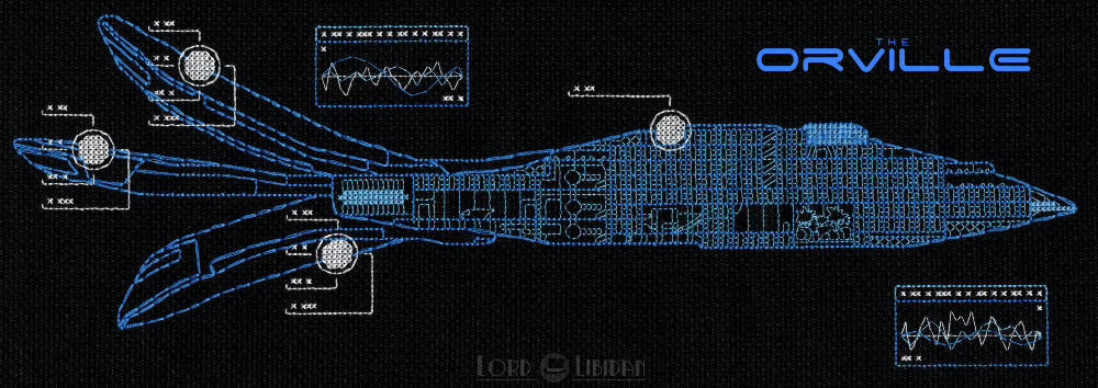 The Orville Blueprint Cross Stitch by Lord Libidan