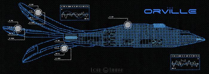The Orville Blueprint Cross Stitch by Lord Libidan