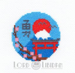 Japanese Shrine Cross Stitch By Lord Libidan