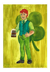 Papergirl commission 2 - St. Patrick by ks-claw