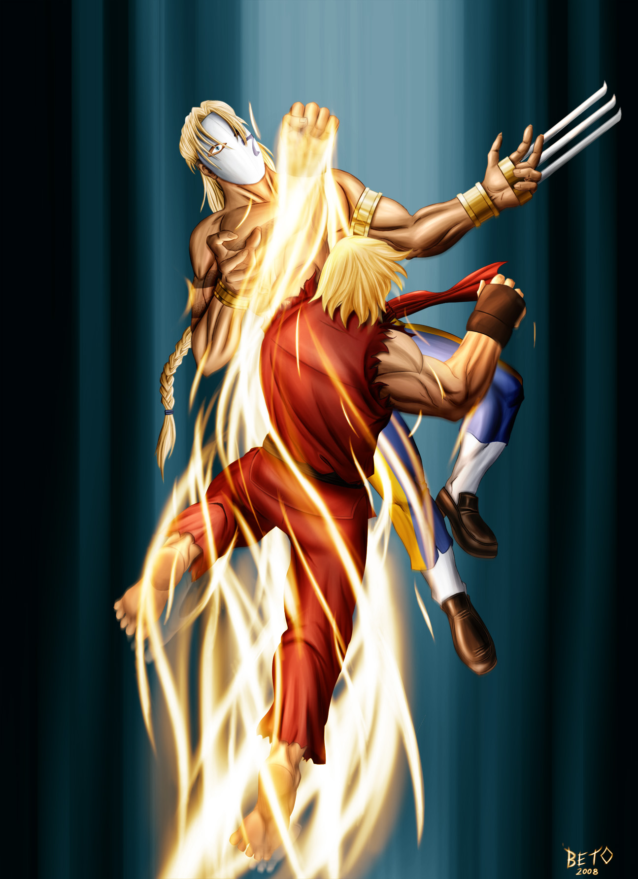 Ken vs Vega by o-Beto-o