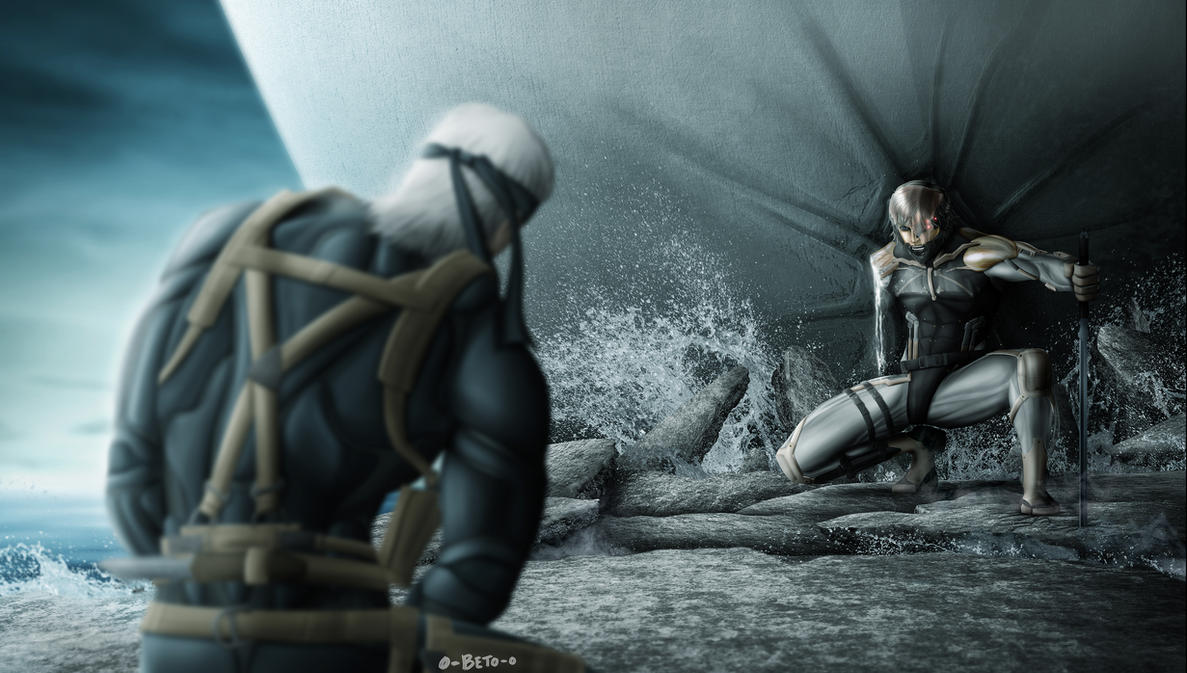 Raiden-my turn to protect you. by o-Beto-o