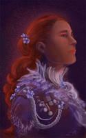 The Red In Purple by Birgitte-Gustavsen