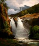 Study of L.Gurlitt Norwegischer Wasserfall