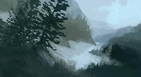 Faded Hills by Birgitte-Gustavsen