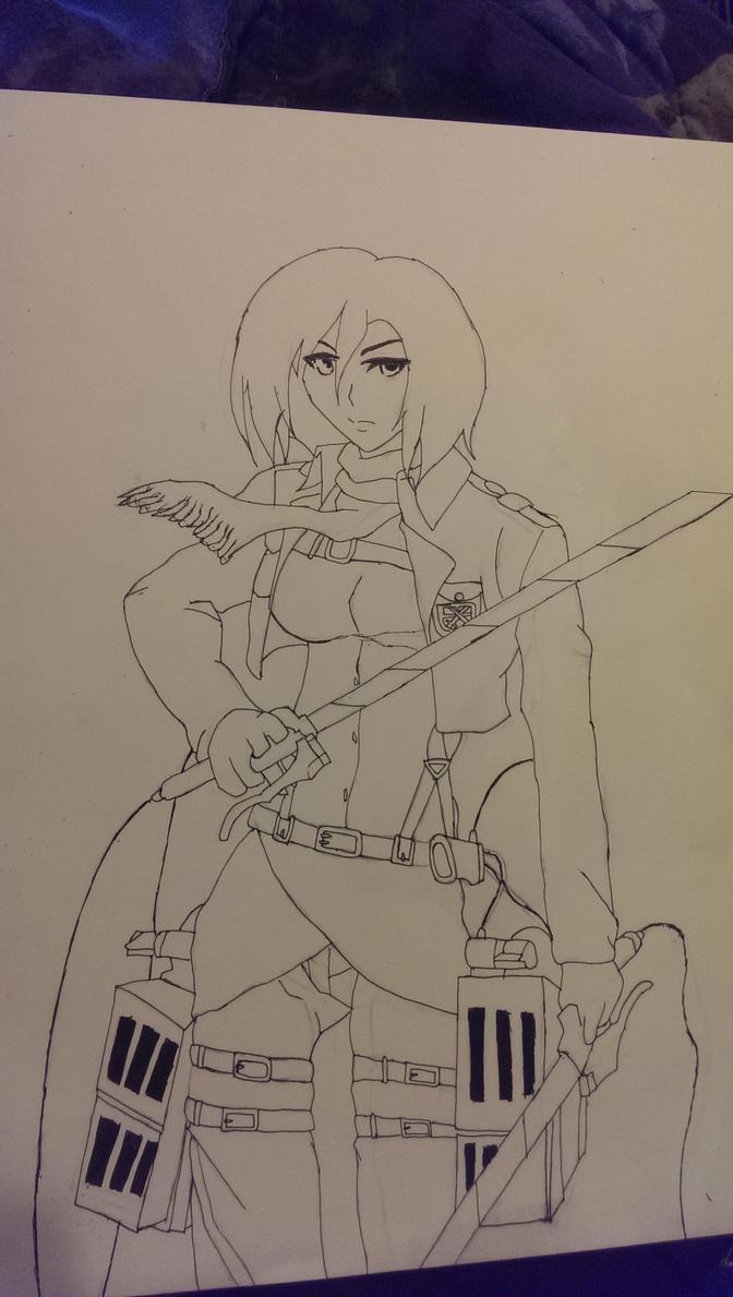 Mikasa Ackerman by TheEye15
