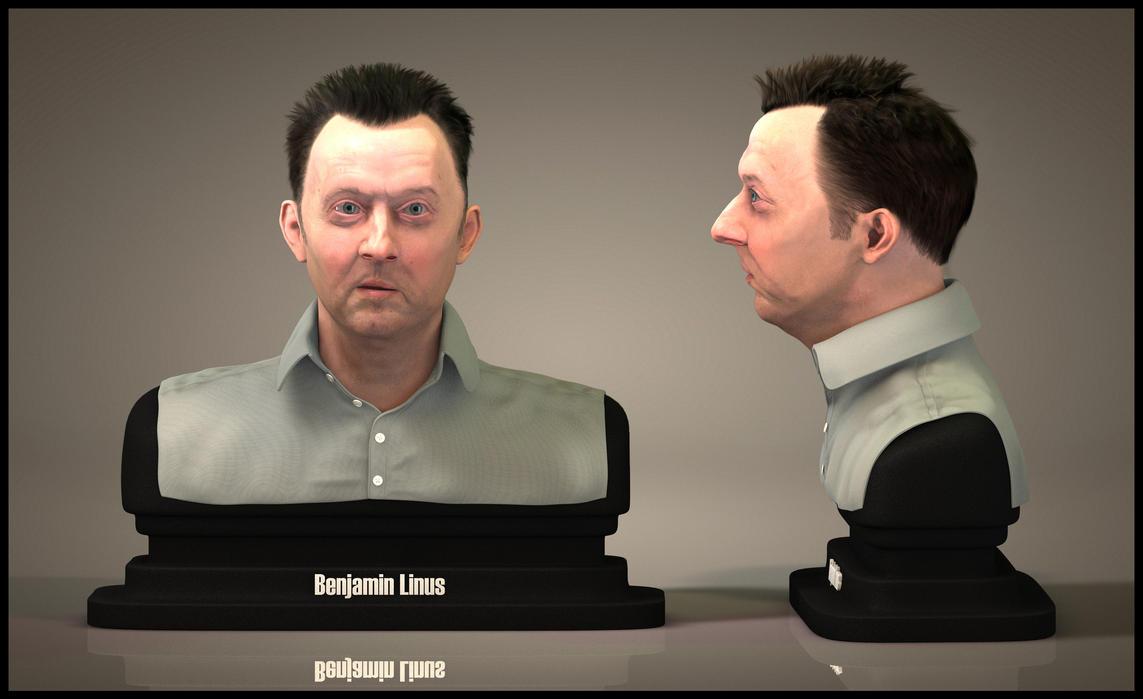 Benjamin Linus Bust by EderCarfagnini
