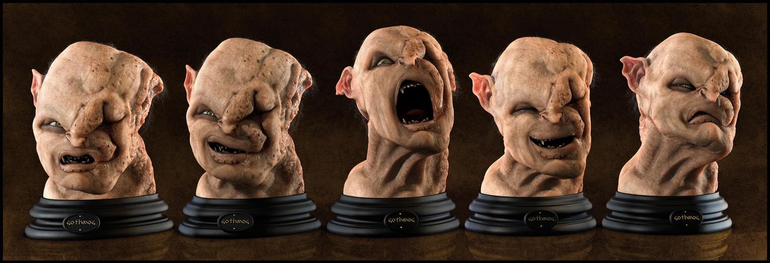 Gothmog Bust: Expressions by EderCarfagnini