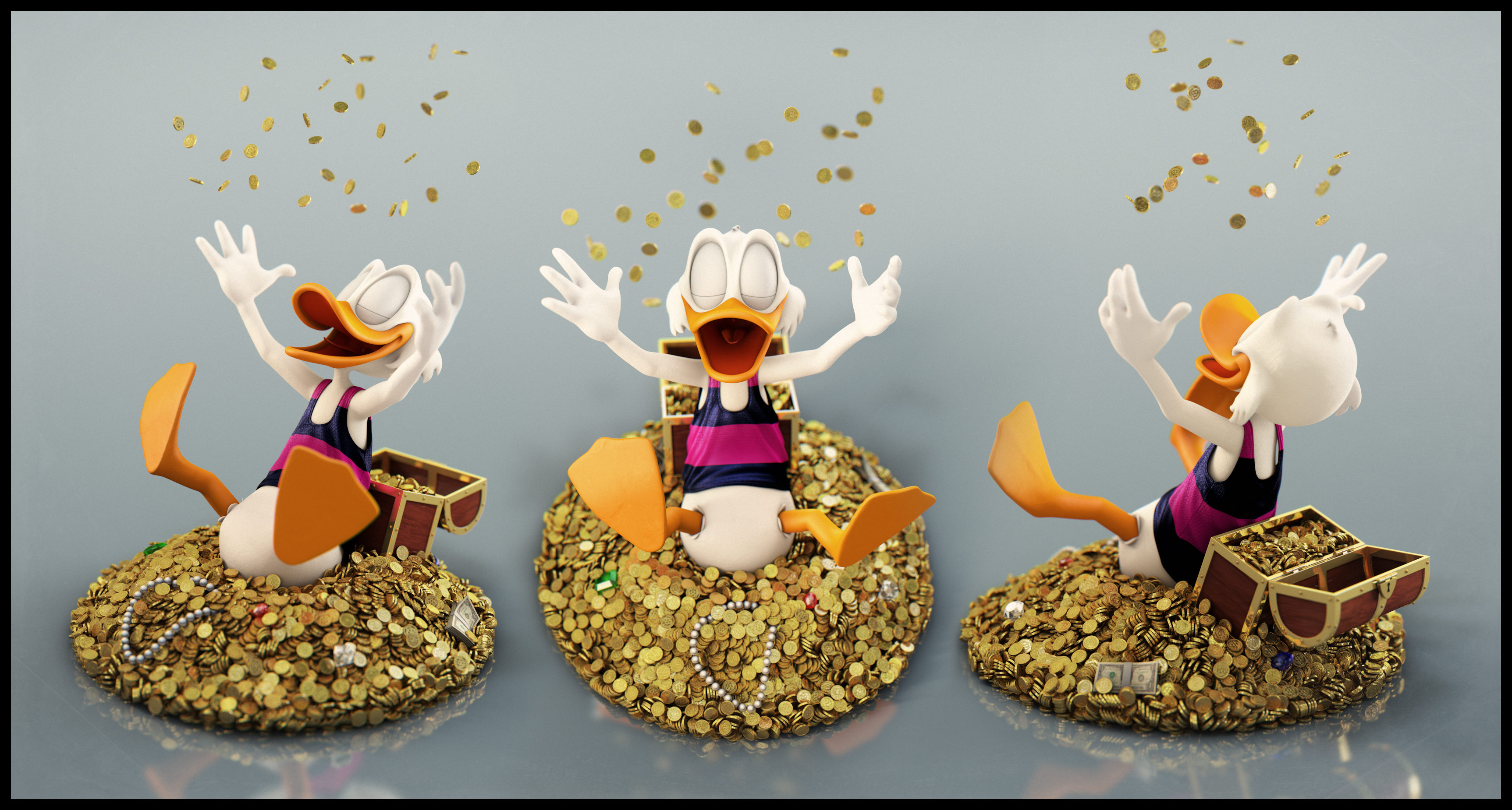 Uncle Scrooge: Shower by EderCarfagnini