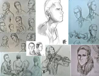 Sketch Dump: People by DatBrainChild
