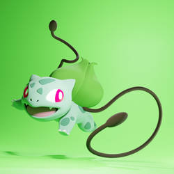 New Bulbasaur - Pokemon - ZBrush