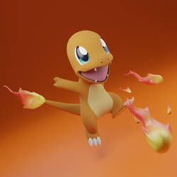 Charmander - Pokemon - Zbrush