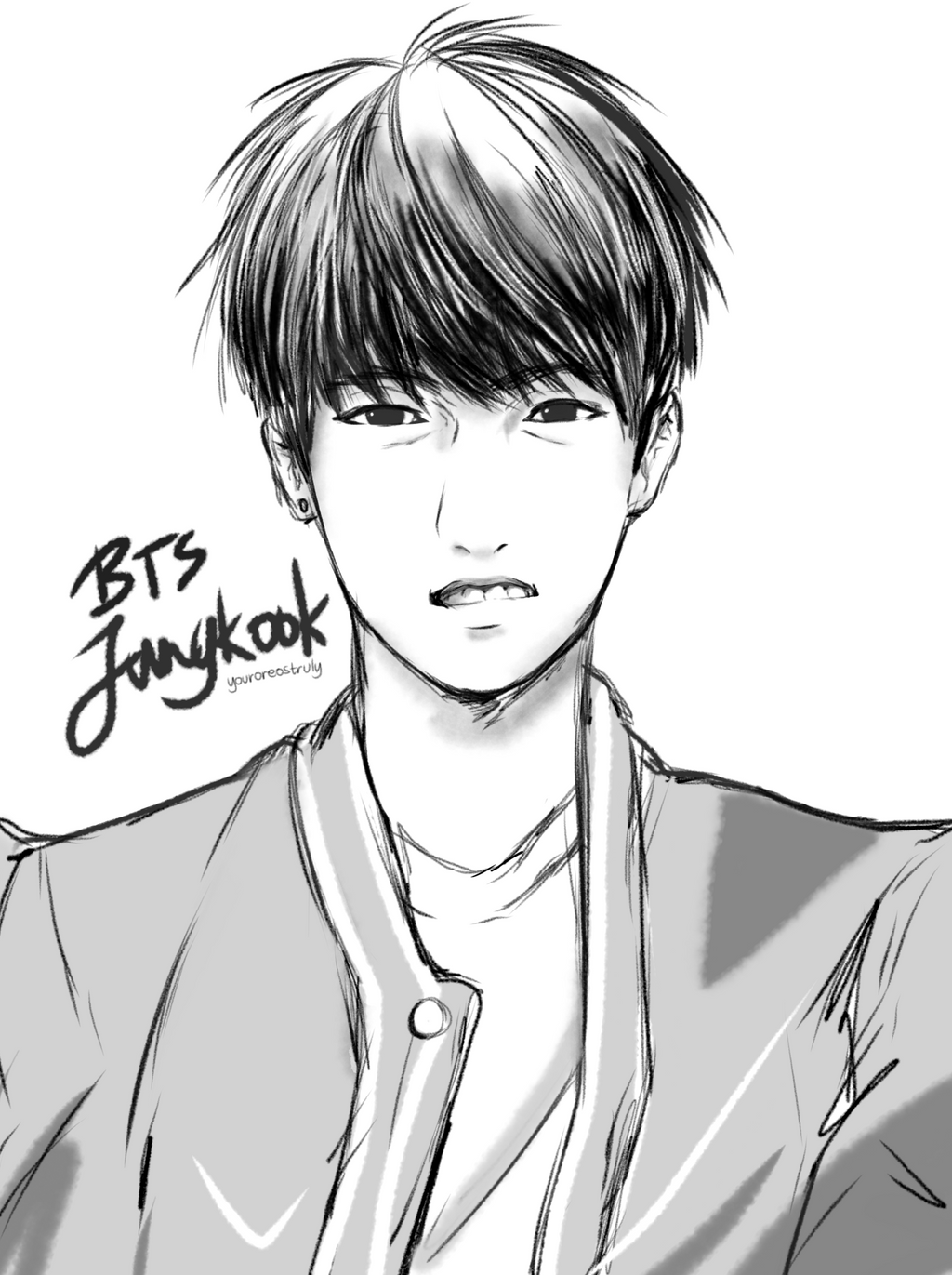 BTS [ Sketch. ] - Jungkook. By Orehyeonggie On DeviantArt
