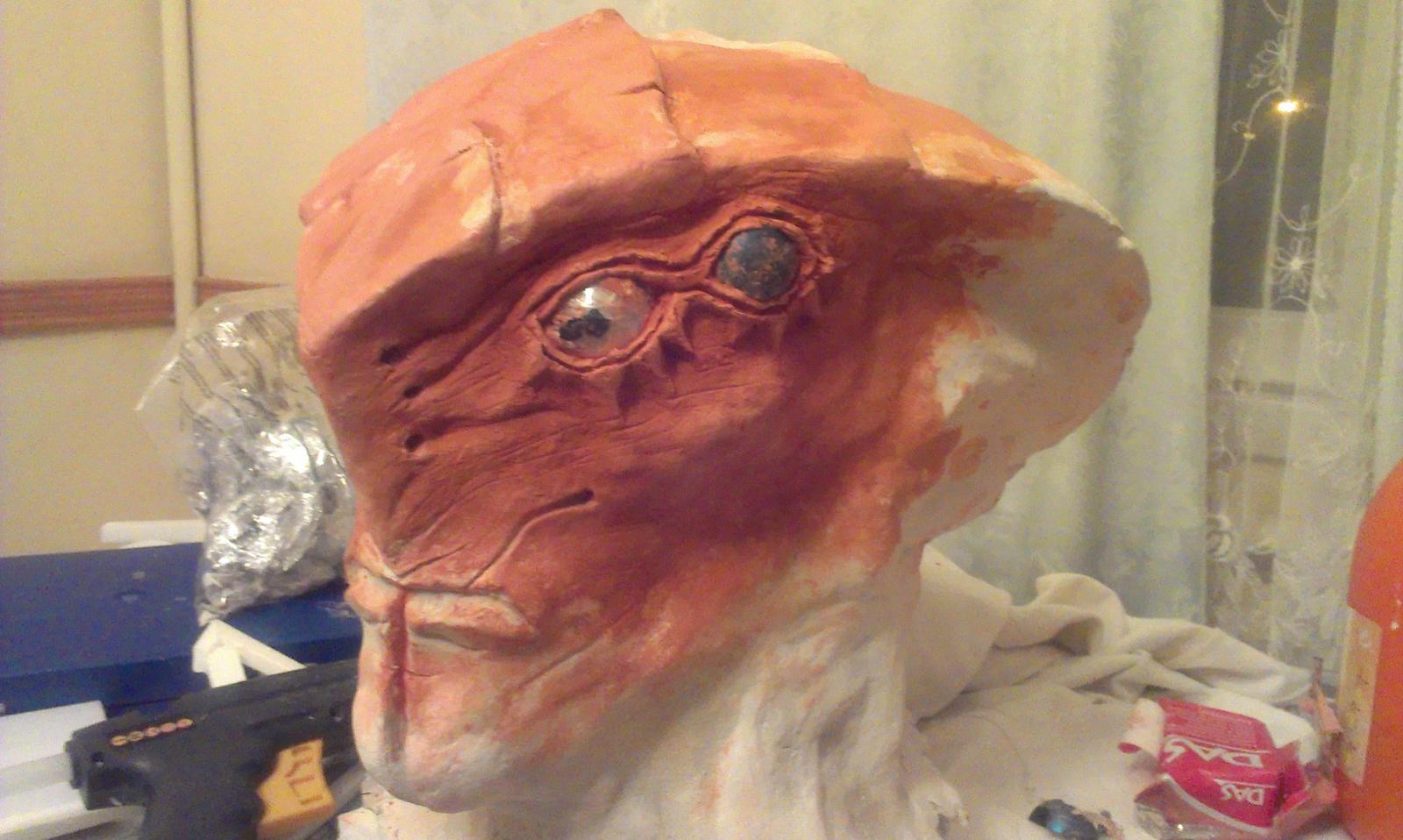 Javik's head sculpt - WIP from Mass eEffect 3 by Giedriusonline