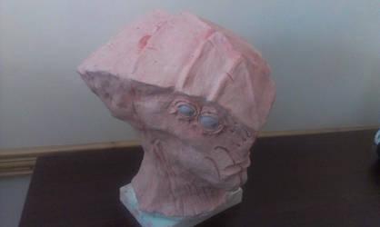 Javik's head sculpt V2 - WIP from Mass eEffect 3 by Giedriusonline