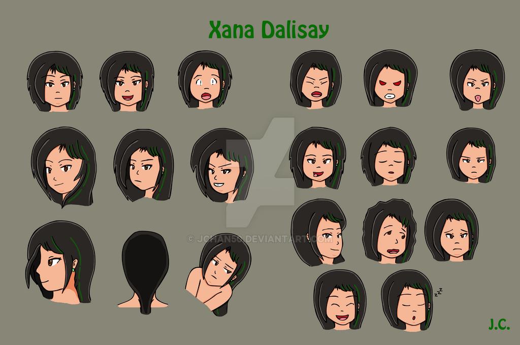 Tekken 7 Xana Dalisay - Page 2 Xana_facial_expressions_by_jchan50-daojrev