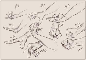Hand studies by Yorollimor