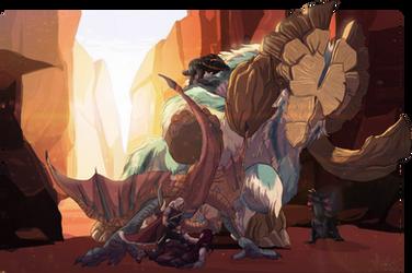 [MHR] Bossfight - Slumbermane Gammoth