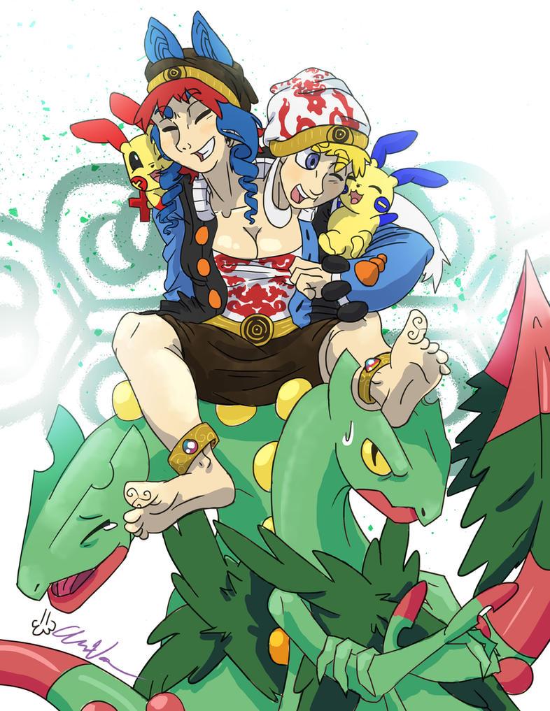 Miu and Sayaka by EatMySocksOff