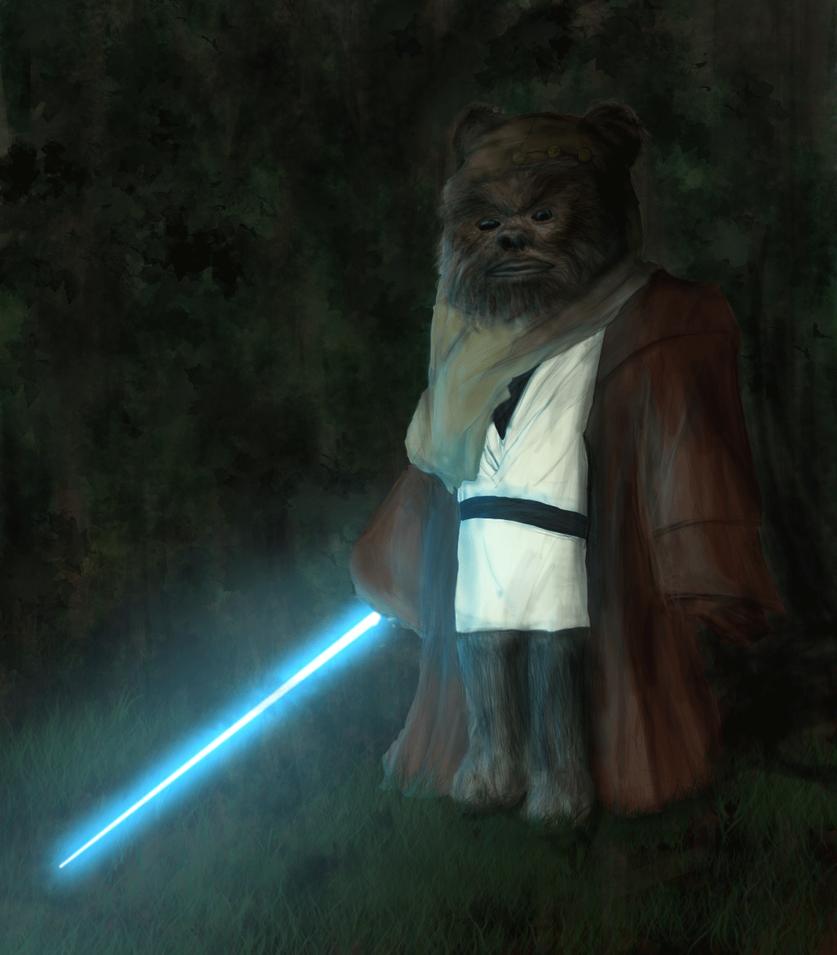 Ewok Jedi by Damiani on DeviantArt