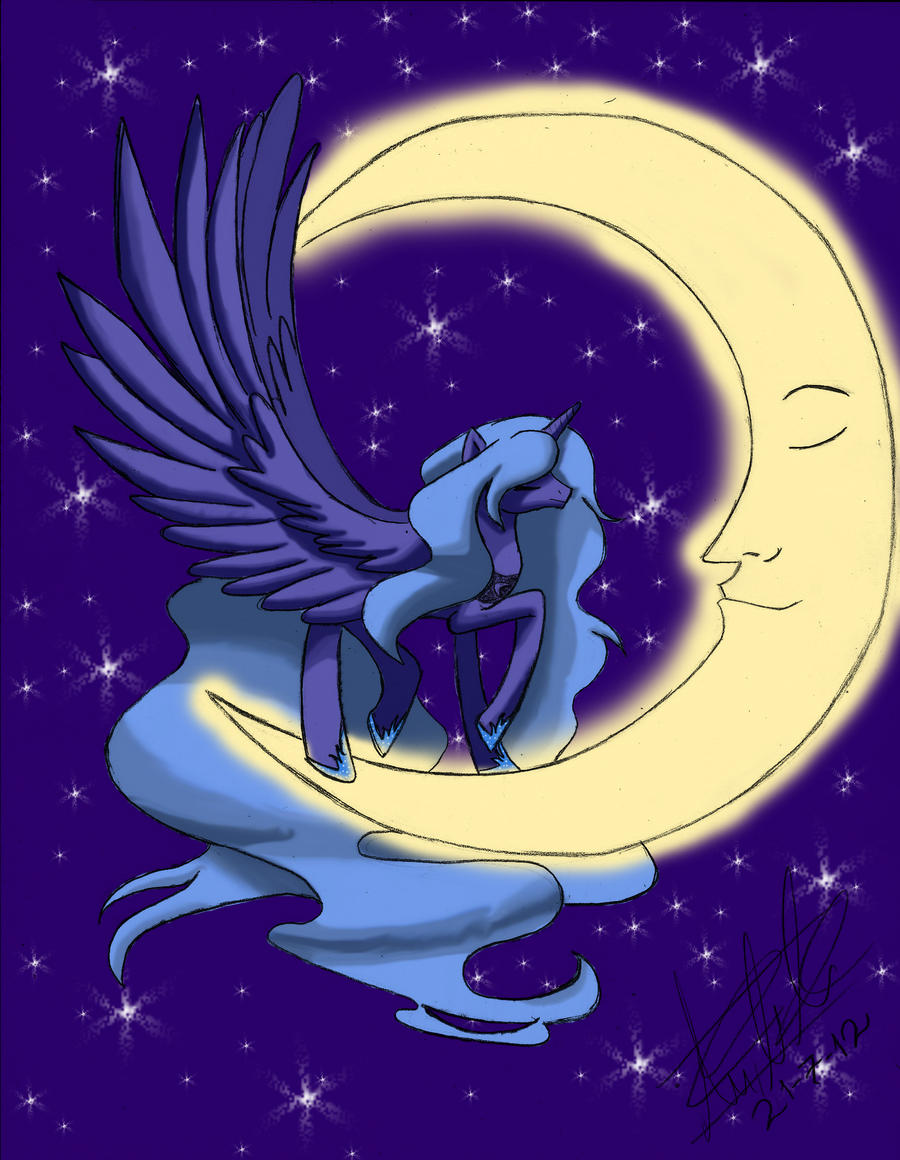Princess Luna (Color) by subject-Delta2