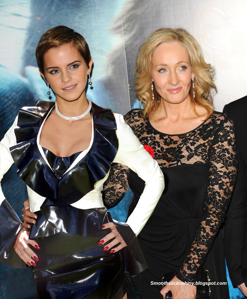 Emma Watson in Latex with JK Rowling by Andylatex